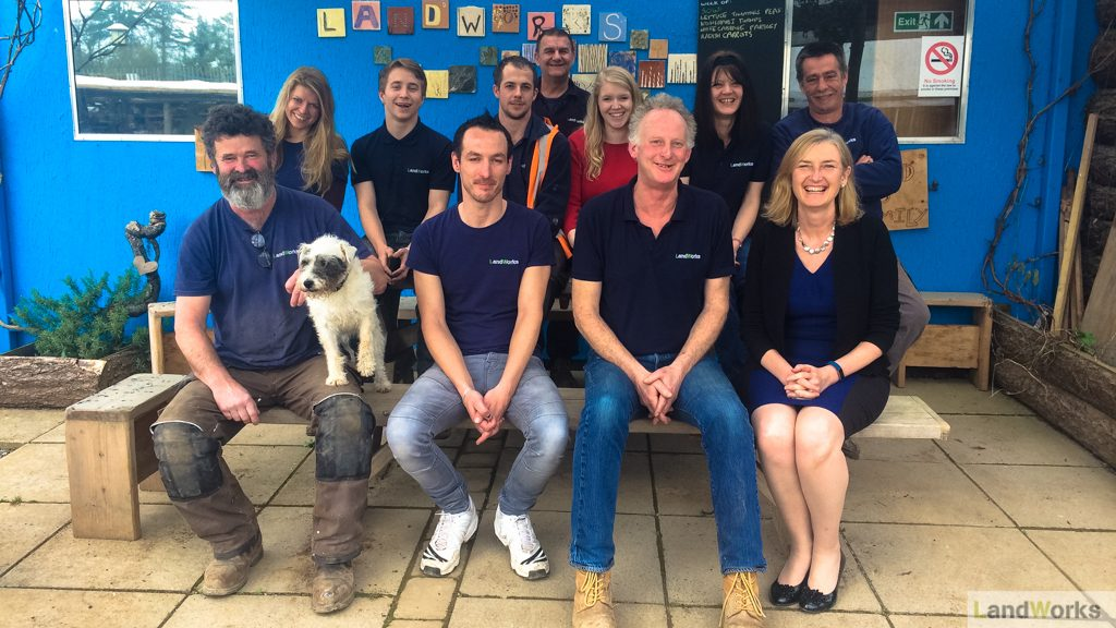 Totnes MP Sarah Wollaston visits LandWorks Charity
