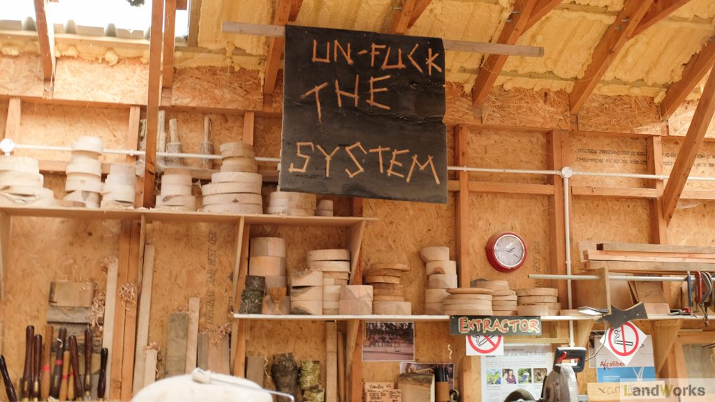 Unfuck The System Artwork Workshop LandWorks Devon