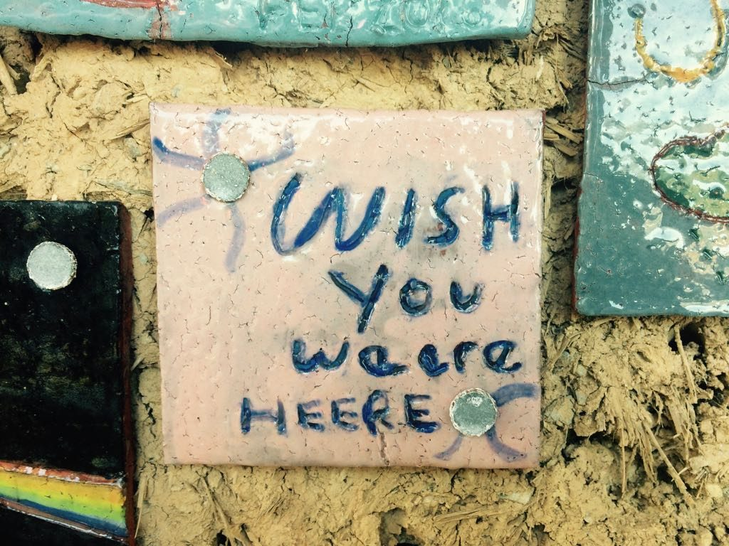 wish you were here landworks blog ceramic tile art cob wall 1 1024x768 - There are a couple of things I need to tell you
