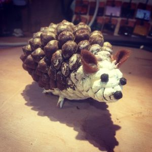 darryl hedgehog pine cone decoration square 2 300x300 - Prisoner Training & Placements