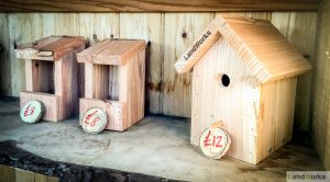 landworks charity christmas market garden stall handmade wooden gifts birdboxes 300x166 - Prisoner Training & Placements