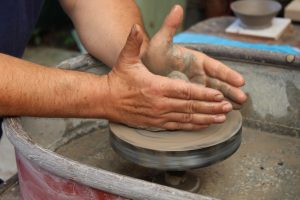 landworks charity hands potters kick wheel ceramics pottery 300x200 - Prisoner Training & Placements