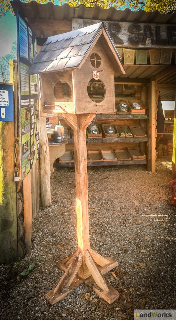 landworks_charity_christmas_market_garden_stall_handmade_wooden_gifts_birdhouse