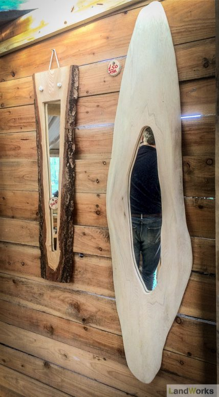 landworks_charity_christmas_market_garden_stall_handmade_wooden_gifts_mirrors