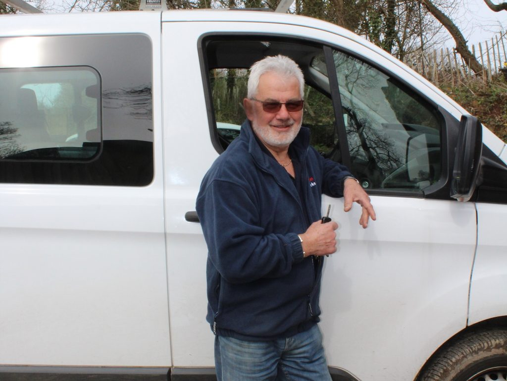 ernie prison van driver outside website 1024x769 - Prisoner Training & Placements
